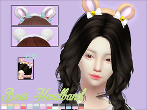 Sims 4 — Yume - Bear Headband by Zauma — Hello! ^^ New cute bear with bells and bows headband for females avaliable on