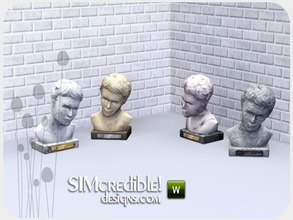 Sims 3 — Worry Less Bust sculpture by SIMcredible! — by SIMcredibledesigns.com available at TSR