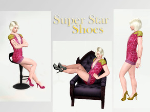 Sims 3 — Super Star Shoes (For Males) by _aya_ — Glamorous shoes for your glamorous sims. Be fabulous!