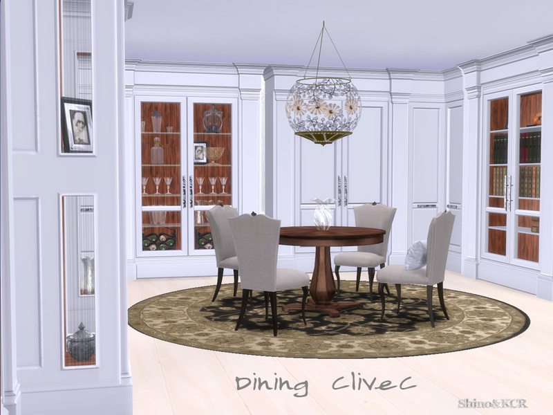 Shinokcr 39 s dining clivec for Dining room ideas sims 4