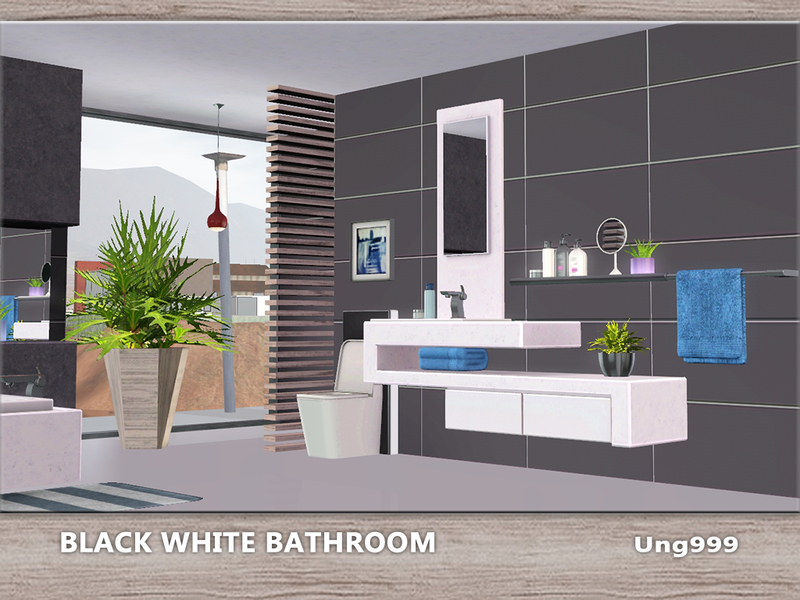 Ung999s black white bathroom