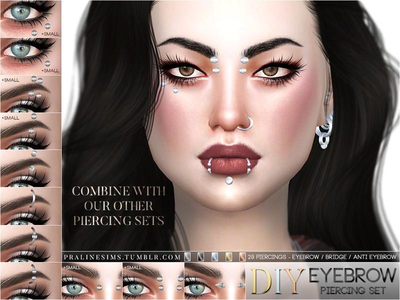 Pralinesims Diy Eyebrow Piercing Set