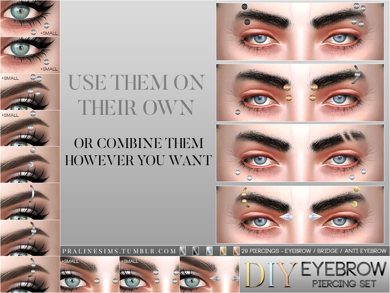 Pralinesims Diy Eyebrow Piercing Set