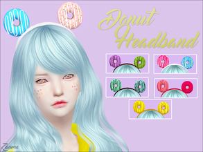 Sims 4 — Yume - Donut Headband by Zauma — Hello! New headband with donuts for females. CAS preview, avaliable on 6