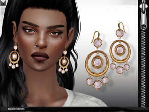 Sims 4 — MFS Leyla Earrings by MissFortune — 100% Meshed by me - Standalone - Custom thumbnail - 6 colors