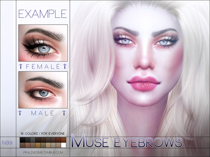 060f7067b Pralinesims  Muse Eyebrows N99