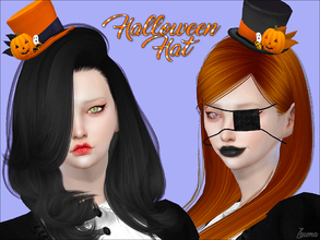 Sims 4 — Yume - Halloween Hat by Zauma — Hello! New hat with Halloween theme for your sims :) Avaliable on 2 colors