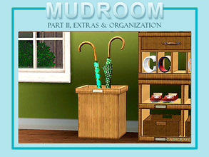 Sims 3 — Mudroom Extras Umbrella Stand by Cashcraft — Keep entryways clutter-free with an umbrella stand for storage.