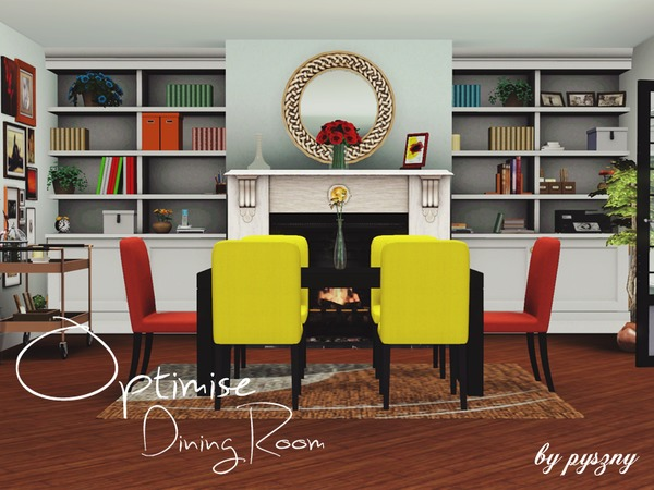Pyszny16 39 s optimise dining room for Dining room ideas sims 4