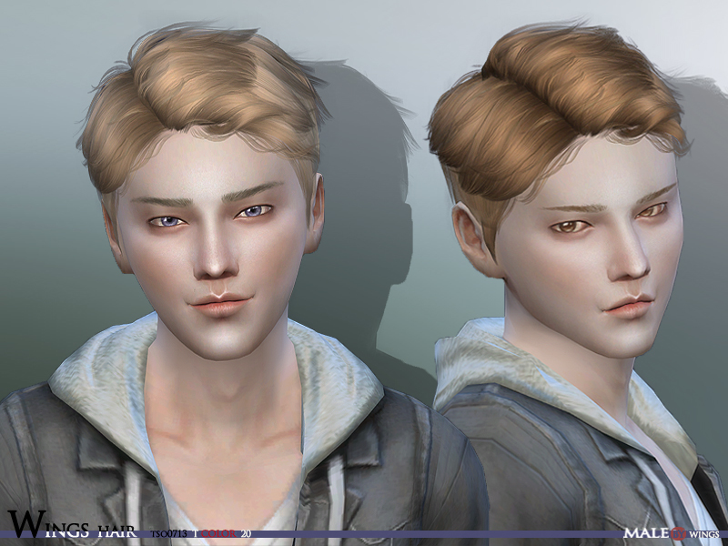 wingssims' WINGS Sims4 Hair TOS0713 MALE V.2