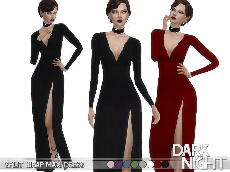 DarkNighTt\'s Split Wrap Maxi Dress - FIXED