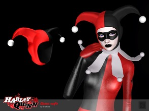 Sims 3 — Classic Hat Harley Quinn by Shushilda2 — The outfit Harley Quinn from comics - New mesh - 3 recolourable