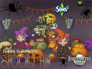 Sims 3 — Spooky fun deco set by jomsims — This year for Halloween, spooky fun. decorative objects, sims 3. To create your