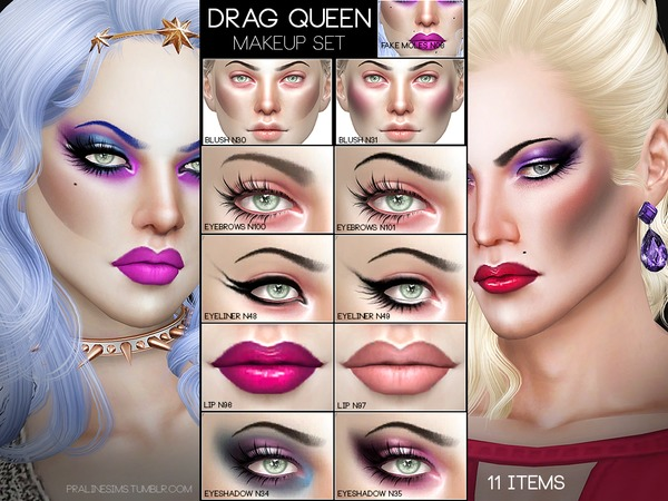 Pralinesims Drag Queen Makeup Set