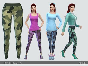 Sims 4 — CamoLeggings by Paogae — Simple and nice camouflage leggings in six colors, useful in many situations and