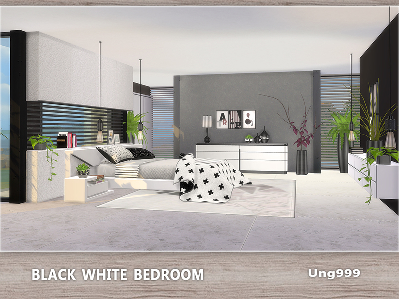 ung999\'s Black White Bedroom
