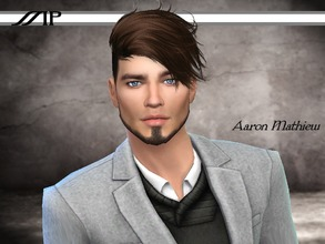 Sims 4 — Aaron Mathiew by MartyP — Aaron Mathiew is from New York. Traveling the world is one of is passion. Very