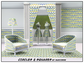 Sims 3 — Circles & Squares_marcorse by marcorse — Geometric pattern - circles and squares in a horizontal design in