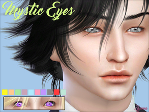 Sims 4 — Yume - Mystic Messenger Eyes by Zauma — Hello! New eye colors based on the game ''Mystic Messenger''. Hope you