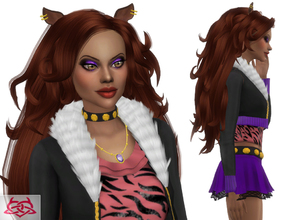 Sims 4 — Clawdeen hairstyle by Colores_Urbanos — Monster High - Clawdeen hairstyle new meshes made by me from Paraguay