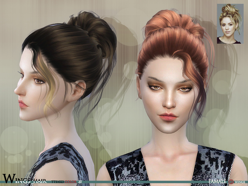 Wingssims Wings Hair Sims4 Tts1023 F