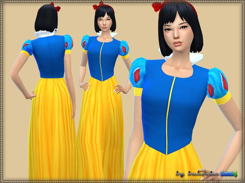 Snow White Dress  sc 1 st  The Sims Resource & bukovkau0027s Snow White Dress