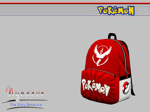 Sims 3 — Pokemon Backpack by NynaeveDesign — Pokemon Kids Study - Backpack Located in: Kids - Kids Decoration Price: 170