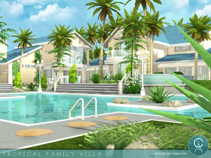 Pralinesims 39 tropical family villa for Beach house 3 free download