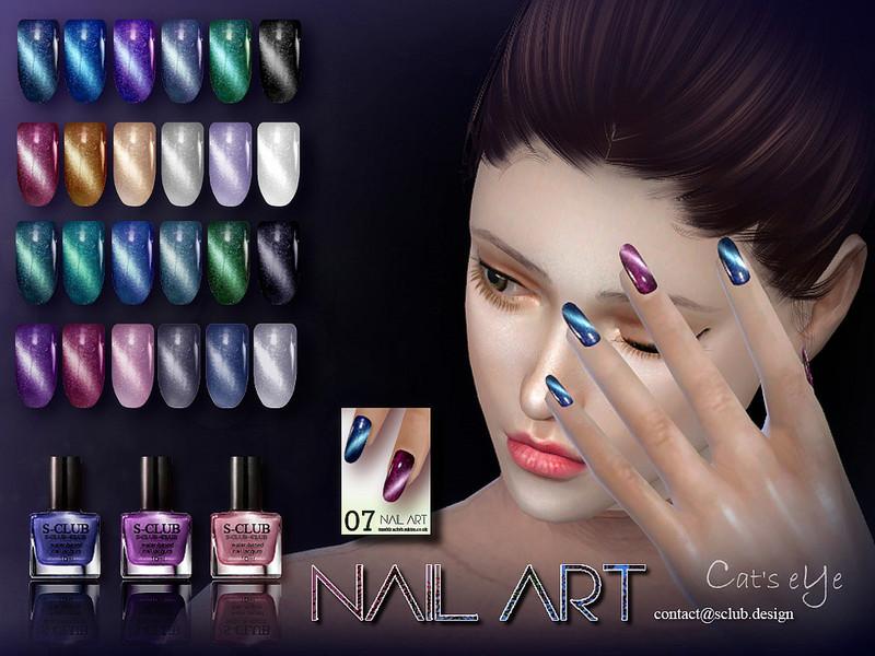 S-club ll ts4 nail art n08