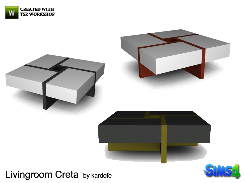 kardofe_Livingroom Creta_CoffeeTable  for Sims 4