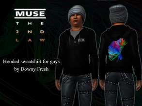 Sims 3 — Muse [The 2nd Law] Hoodie for guys by Downy Fresh — High-Quality hoodie for your sim guys! Based on Muse's 2012