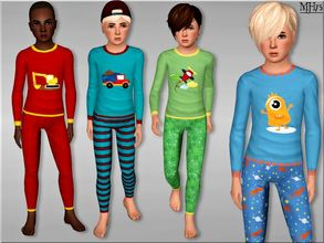 Sims 3 — S3 Lil Lads Pyjamas  by Margeh-75 — Cute comfy cosy pyjamas for boys this time. 5 versions available 4 seen in