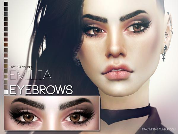 Emilia Eyebrows N102 by Pralinesims