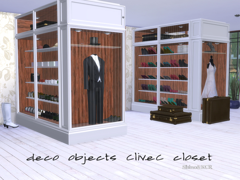 ShinoKCR's Bedroom Closet CliveC Deco