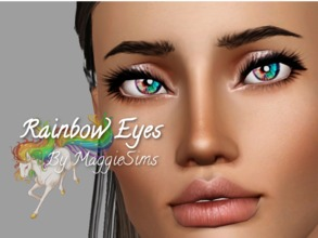 Sims 3 — Rainbow Eyes by mhamilton09112 — rainbow colored contacts, available for both genders, and teen-elder