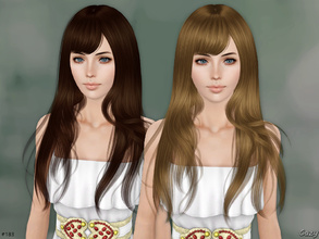 Sims 3 — Autumn Breeze - TE by Cazy — Hairstyle for Female, Teen through Elder. All LOD included.