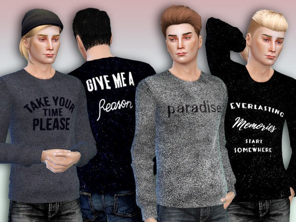 'Paradise' Sweaters For Men - Spa Day GP needed by Simlark