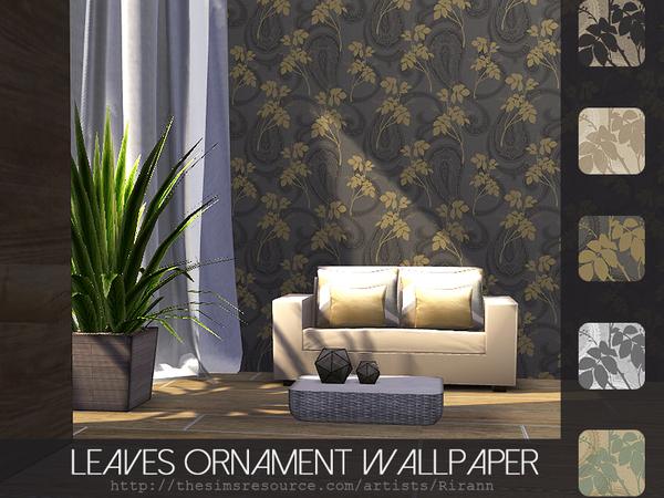 Leaves Ornament Wallpaper by Rirann