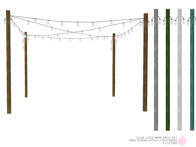 Yard String 4 Pole Light Mesh