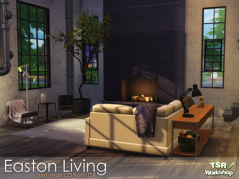 Sim man123 39 s easton living room for 3 star living room chair sims