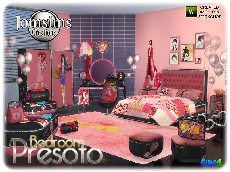 jomsims\' Presoto bedroom girly