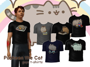 Sims 3 — Pusheen The Cat T-Shirts for Guys by Downy Fresh — Pusheen The Cat T-Shirts! Based on the books by Claire Belton