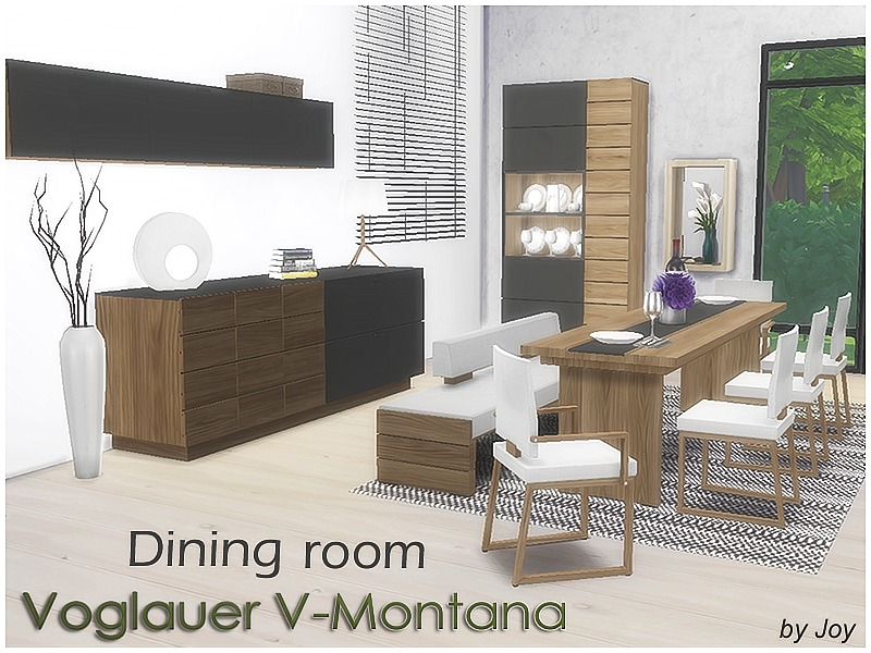 joy 39 s dining room voglauer v montana. Black Bedroom Furniture Sets. Home Design Ideas