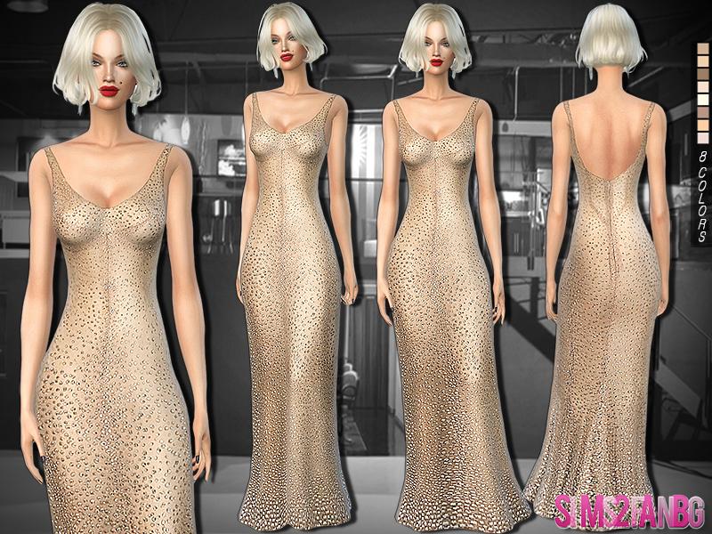sims2fanbg\'s 254 - Marilyn Monroe Birthday Dress