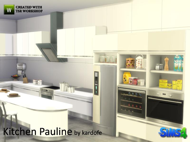 Kardofe kitchen pauline for Sims 3 cuisine moderne