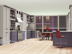 Sims 3 — Contemporary Shaker Kitchen by pyszny16 — Contemporary Shaker is very modern kitchen. It contains everything you