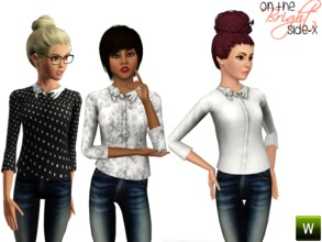 Sims 3 — Cat Collar Top (TEEN) by onthebrightside-x2 — Cat Collar Top for teens. 2 recolorable channels: -shirt -collar 3