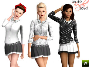 Sims 3 — Cat Collar Top (YA-A) by onthebrightside-x2 — Cat Collar Top for adults. 2 recolorable channels: -shirt -collar