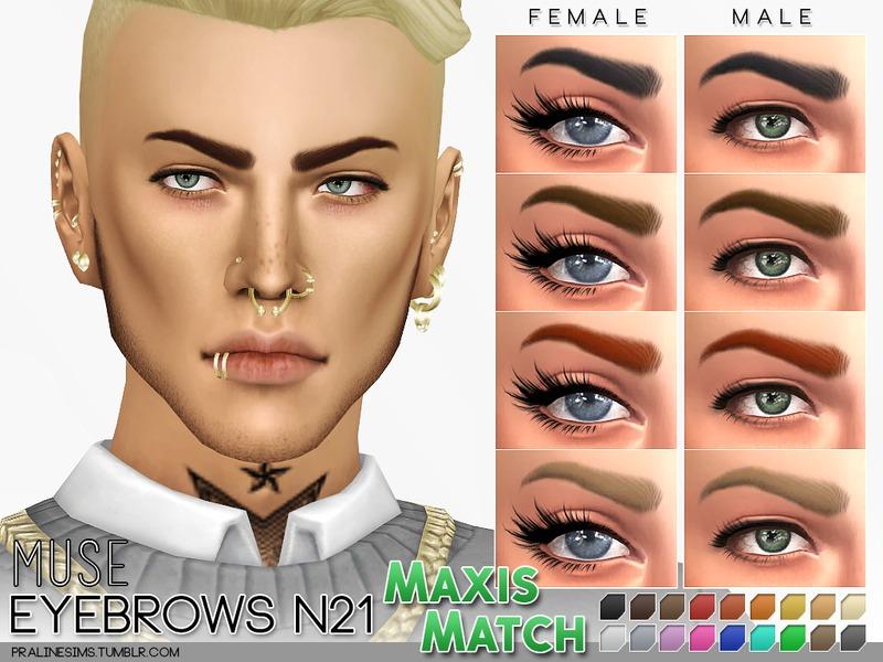 f487d1efc Pralinesims  MM Eyebrows N21 - Muse