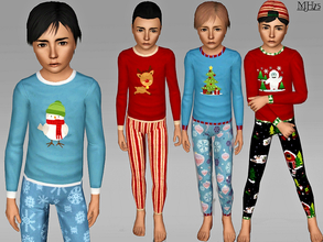 Sims 3 — S3 Xmas Pyjamas [CM]  by Margeh-75 — -Snuggly winter pyjamas for your child male sims. 5 different christmas